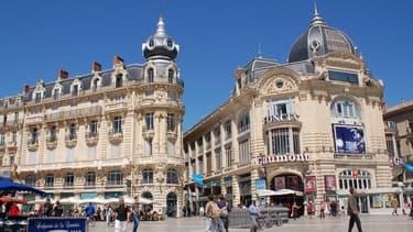 Place de la Comédie, à Montpellier