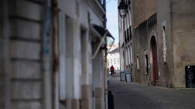 Une rue de Nantes déserte durant le confinement, mars 2020.