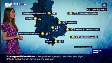 Météo: un grand soleil et de fortes chaleurs ce mercredi à Lyon, jusqu'à 32°C attendus cet après-midi