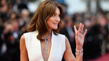 Carla Bruni-Sarkozy lors du 71e Festival de Cannes, le 13 mai 2018