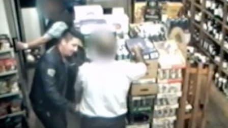 Capture d'écran de la vidéo du cambriolage, diffusée par Scotland Yard.