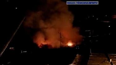 Un incendie dans un camp de Roms à Bobigny.