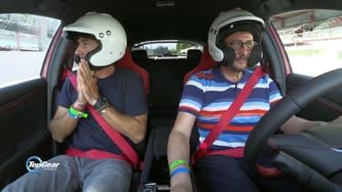 Le Tone au volant de la dernière Civic Type-R sur le circuit de Spa-Francorchamps.