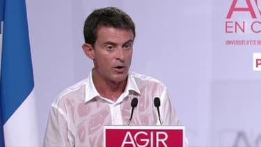 Manuel Valls, dimanche, lors de son discours de clôture de l'université d'été du PS.