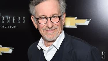 """Steven Spielberg à la première de """"Transformers"""" à New York en octobre."""