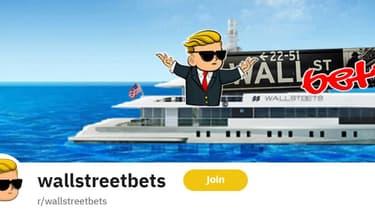 """L'onglet de discussion """"Wallstreetbets"""", lieu de rassemblement des petits porteurs sur Reddit."""