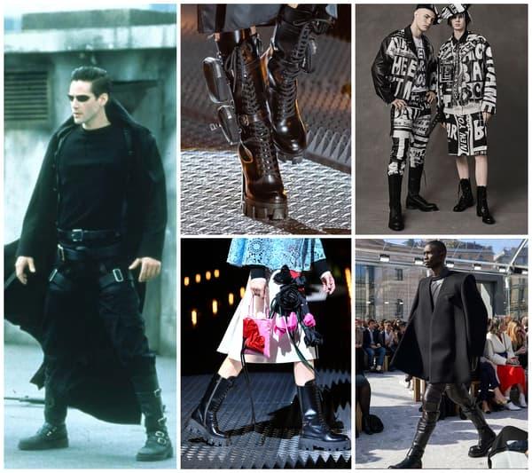 Neo dans Matrix - Prada, Jeremy Scott et Bottega Veneta