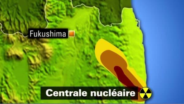 """Le rayon de la """"zone rouge"""" autour de la centrale de Fukushima est d'environ 10 km."""