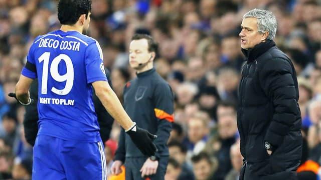 Diego Costa et José Mourinho