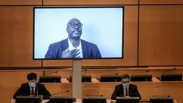 Philonise Floyd s'exprime dans une vidéo diffusée au Conseil des droits de l'Homme de l'ONU à Genève le 17 juin 2020