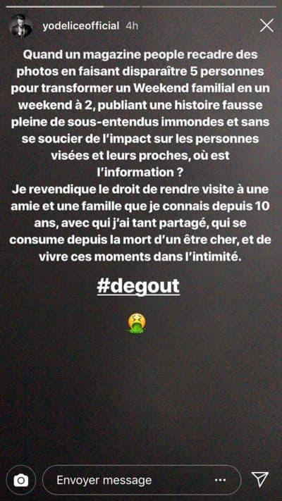 La story postée par Maxim Nucci sur Instagram.