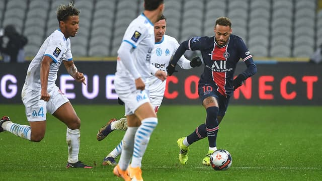 Neymar lors de PSG-OM