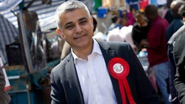 Le travailliste Sadiq Khan le 4 mai 2016, à la veille des élections municipales de Londres.