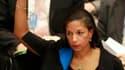 Susan Rice, ambassadrice des Etats-Unis à l'Onu, prend part au vote sur l'Iran mercredi à New York. Le Conseil de sécurité des Nations unies a adopté mercredi par 12 voix pour, deux contre et une abstention un quatrième train de sanctions contre l'Iran, a