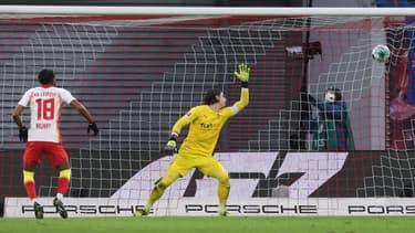 Nkunku a réduit le score pour Leipzig