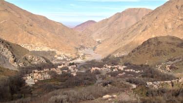 La région montagneuse d'Imlil, dans le sud du Maroc.