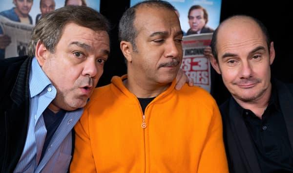 """Didier Bourdon, Pascal Legitimus et Bernard Campan en 2014 pour la promotion de """"Les Trois frères, le retour"""""""