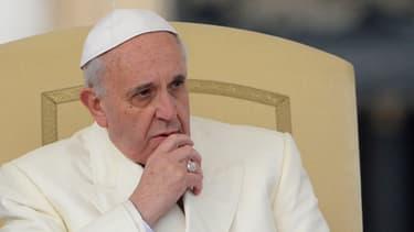 Le pape François lors de son audience générale à Rome le 22 janvier 2014