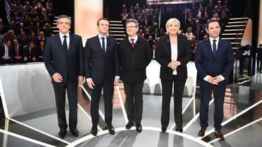 Les cinq candidats qui ont fait l'objet d'une étude du Coe-Rexecode