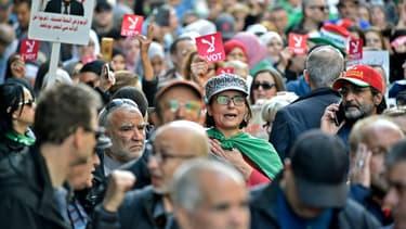 La manifestation à Alger ce vendredi.