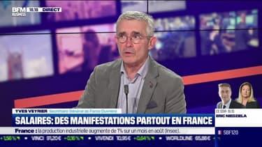Yves Veyrier (Force Ouvrière) : Salaires, des manifestations partout en France - 05/10