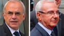 """Deux membres du gouvernement français ont annoncé le lancement mercredi d'un courant """"humaniste"""" au sein de l'UMP, le parti du président Nicolas Sarkozy. Le secrétaire d'Etat à la Défense et aux Anciens combattants, Marc Laffineur (à gauche), et le minist"""