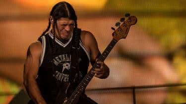 Robert Trujillo avec Metallica à Rio en 2013