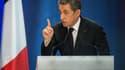 Nicolas Sarkozy en meeting à Lambersart, dans le Nord, le 25 septembre.