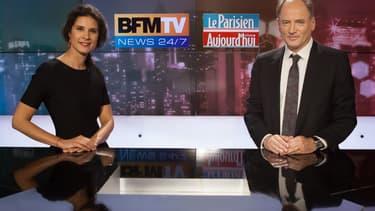 Apolline de Malherbe (BFMTV) et Henri Vernet (Le Parisien/Aujourd'hui en France)