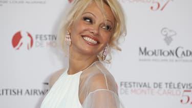 Pamela Anderson le 16 juin 2017 à Monaco.