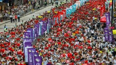 Manifestation contre un projet de loi controversé autorisant les extraditions vers la Chine continentale, le 9 juin 2019 à Hong Kong