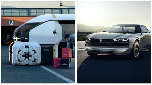 EZ-PRO, à droite, se présente comme un utilitaire de demain, alors que le concept e-Legend cherche à faire le lien entre le passé et le futur de l'automobile