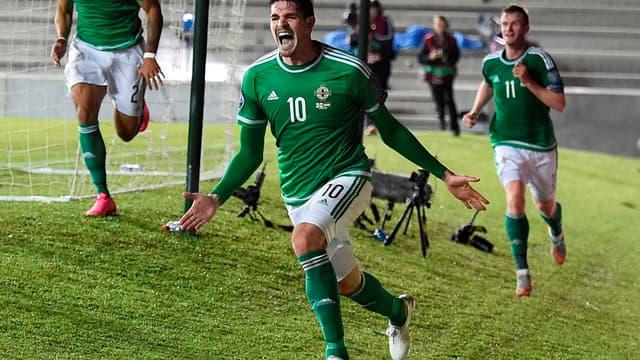 Kyle Lafferty, arme offensive n°1 de l'Irlande du Nord lors des qualifications