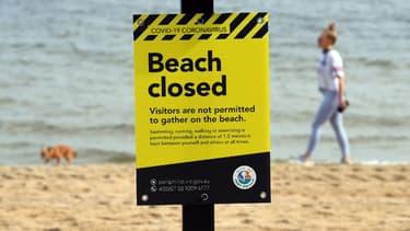 Les plages australiennes ont été fermées au public pour limiter la propagation du Covid-19