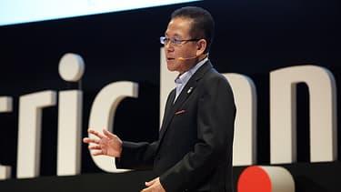 Tatsuya Tanaka, patron de Fujitsu, a annoncé le financement d'un centre d'excellence au sein de l'incubateur de l'École Polytechnique basé sur le plateau de Saclay.