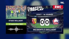 Lens - Lille : Incidents entre supporters et reprise du match 30 minutes après avec le direct de RMC