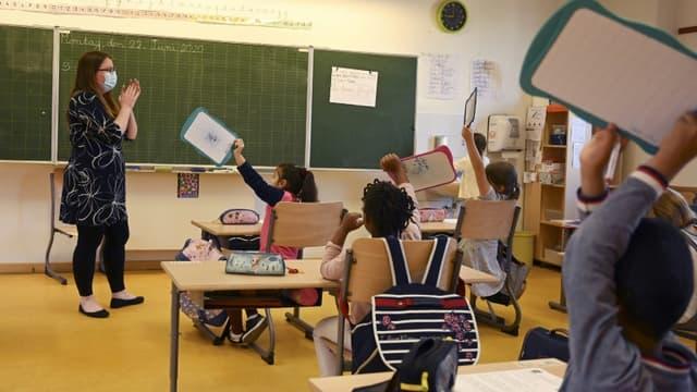 Des élèves d'une école élémentaire à Srasbourg, le 22 juin 2020