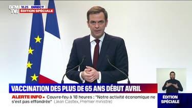 """Olivier Véran: """"La France a commandé des dizaines de milliers de doses d'anticorps monoclonaux qui arriveront d'ici la mi-mars"""""""