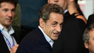 Nicolas Sarkozy au Parc des Princes pour PSG - OM le 23 octobre 2016.