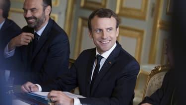 Emmanuel Macron et Édouard Philippe à l'Elysée le 13 juillet 2017.
