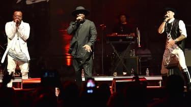 will.i.am leader des Black Eyed Peas, en concert avec  apl.de.ap and Taboo.