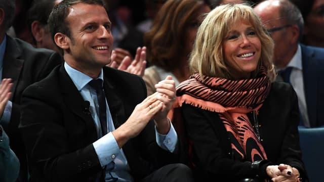 Brigitte et Emmanuel Macron, le 18 octobre 2016.