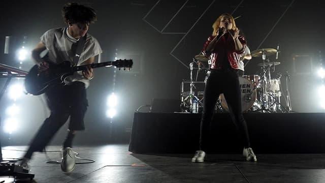 Hyphen Hyphen en concert sur la scène du Printemps de Bourges en avril 2018.