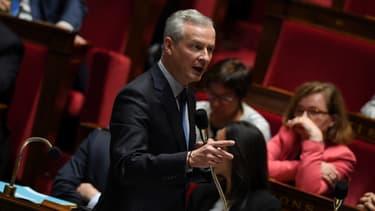 Le ministre de l'Economie et des Finances Bruno Le Maire, le 3 octobre 2017 à l'Assemblée nationale à Paris.