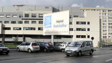 Le centre hospitalier de Rennes .