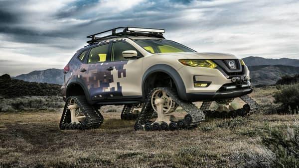 Le Nissan Rogue Trail Warrior Project ou quand un 4X4 rencontre le char d'assaut.