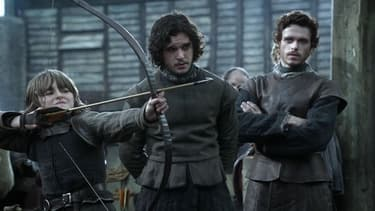 "Richard Mdden, Kit Harington et Isaac Hempstead-Wright ""Game of Thrones""."