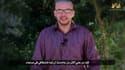 Extrait d'une vidéo de propagande montrant un homme présenté comme l'Américain Luke Somers, 33 ans, pris en otage dans la capitale yéménite Sanaa  il y a plus d'un an.