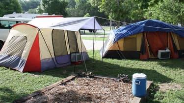 Des tentes installées dans un camping (Photo d'illustration).