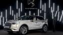 Une DS3 Crossback 100% électrique exposée au Mondial de l'Automobile de Paris en 2018.